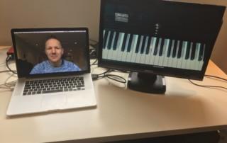 Pianoles keyboardles via Skype en Zoom